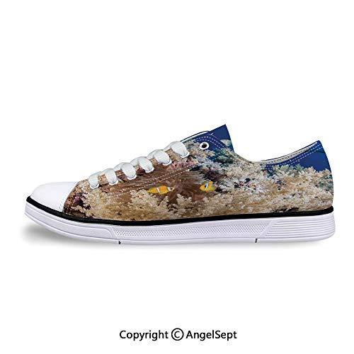 Low Top Rubber Sole Canvas Shoes Clown Fish