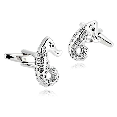 Epinki Mens Stainless Steel Silver Animal Seahorse for sale  Delivered anywhere in USA