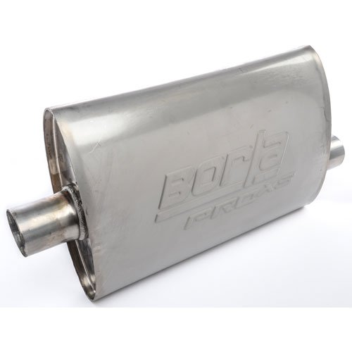Borla 40344 Pro XS Muffler Center/Offset Oval 2 in. Inlet 2 in. Outlet 14 in. x 4 in. x 9.5 in. Case Size 19 in. Overall Len ()