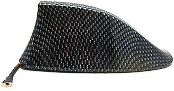 Fibra de Carbón Antena Decoratiava Coche Aleta de Tiburón Adhesiva