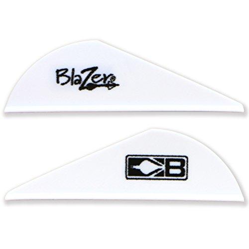 Bohning Blazer Vane (Pack of 36), White Bohning Blazer Broadhead Vanes