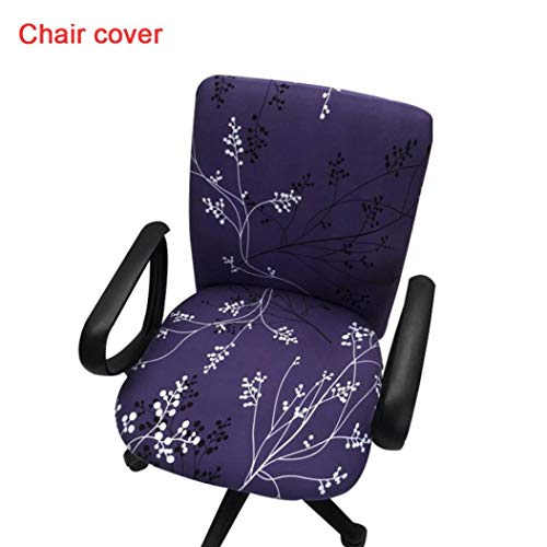 (ROGEWIN Chair Covers Iron-Free Siamese Office Computer Slipcover Elastic Force Soft Comfortable Wrap Angle Seat Case)