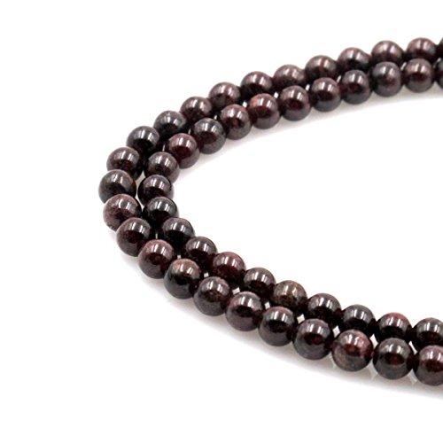 Garnet Four (BRCbeads Natural Dark Red Garnet Gemstone Round Loose Beads 4~5mm Approxi 15.5 inch 88pcs 1 Strand per Bag for Jewelry Making)