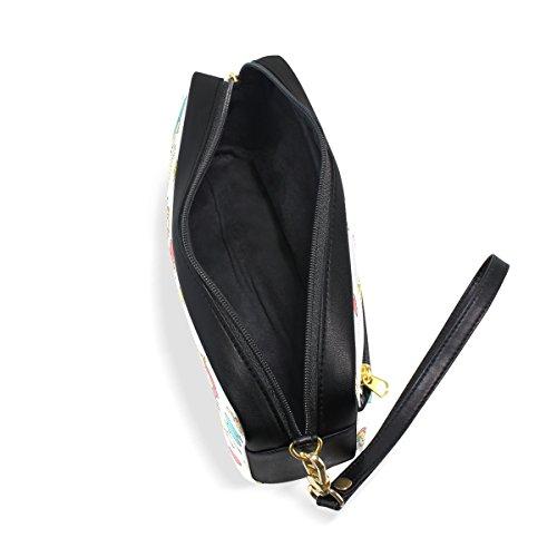 BENNIGIRY Farbiges Einhorn Bleistift Fall tragbar Pen Tasche Student Schreibwaren Pouch PU Leder Groß Kapazität Reißverschluss Make-up Kosmetiktasche