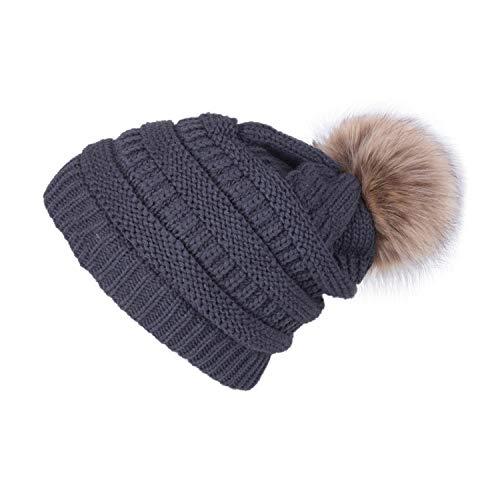 Winter Brand Female Ball Cap Winter Hat for Women 'S Knitted Beanies Cap Hat Thick Skullies -