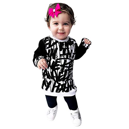 Big Sale! Daoroka Toddler Baby Girl Boys Long Sleeve Doodle Print Tops Pullover Sweater Outfits Autumn Winter Clothes Clearance -