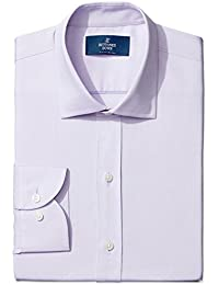 Men's Slim Fit Spread-Collar Solid Non-Iron Dress Shirt