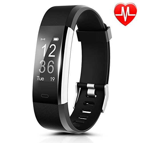Fitness Tracker, DRILLPRO ID115 Plus Activity Wristbands with Heart Rate Monitor: IP67 0.96''OLED Sport Intelligent Bracelet Sleep Monitoring / GPS Track/ Camera Control for Android and - Suits Speed Custom