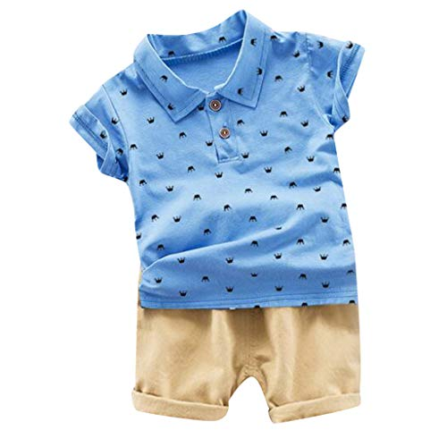 Little Boy Summer Cotton Clothing Set Essential Shorts Set Baby Kids Print Tops Polo Shirt Outfits Set 12M-3Y - Top Wall Mounted Arch Jewelry