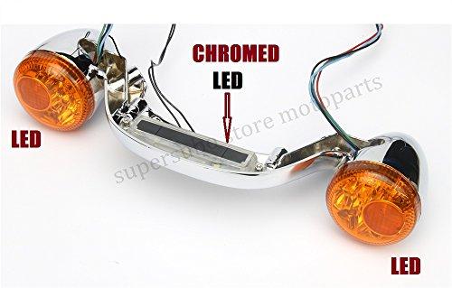Chrome Rear LED Brake Light harley davidson Turn Signal Bar lights Touring Street Road Glide 2010-2016