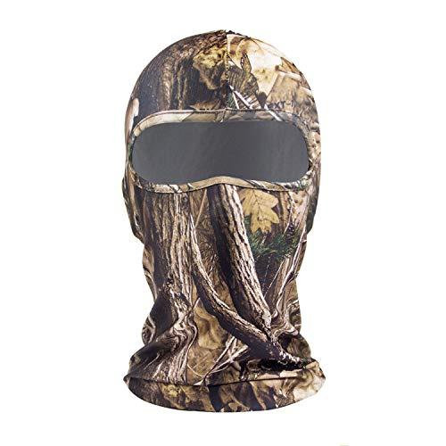 Summer Camo - hikevalley Balaclava Face Mask Adjustable Windproof UV Protection Hood (Camo Tree)