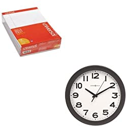 KITMIL625485UNV20630 - Value Kit - Howard Miller Kenwick Wall Clock (MIL625485) and Universal Perforated Edge Writing Pad (UNV20630)