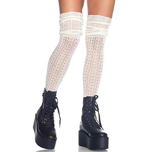 Leg Avenue Womens Pointelle Scrunch Knee Socks ()
