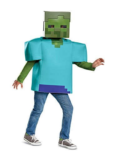 Disguise Zombie Classic Child Costume, Green, Large/(10-12) ()