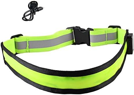 Visibility Reflective Safety Belt Running Cycling LED Light Adjustable Elastic