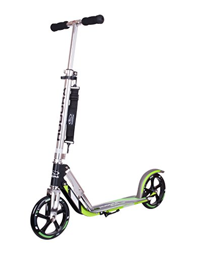 Hudora Unisex Child GS 205 Big Wheel Aluminium Scooter - Black/Green, One...