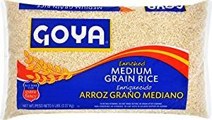 (Goya Enriched Medium Grain Rice 80 Oz. Pack Of)