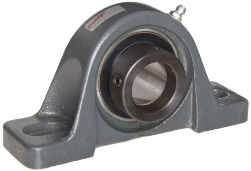 (Browning VPLE-216 Pillow Block Ball Bearing, 2 Bolt, Eccentric Lock, Contact and Flinger Seal, Cast Iron, Inch, 1