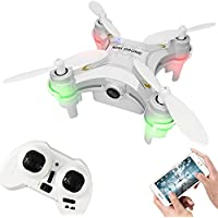 Remote-controlled Rechargeable Mini Quadcopter Rotatable Motor Drone Aircraft with WIFI FPV HD Camera 4 Channels 6 Axis Gyro 2.4 Ghz?White)