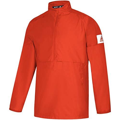 adidas Game Mode Quarter-Zip Jacket - Men's Training 2XL Collegiate Orange/White