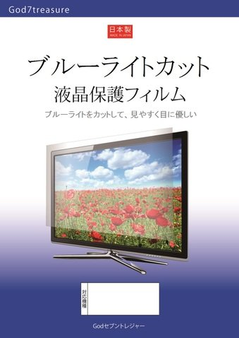 ブルーライト カット 液晶 TV 保護 フィルム SONY BRAVIA KJ-55X8500E [55インチ] 機種で使える 液晶保護フィルム   B0777N53X6