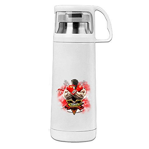 HAULKOO Street Fighter V 4 Stainless Steel Thermos - Sunglasses V Logo