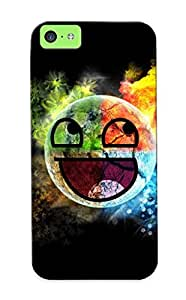 Ellent Iphone 5c Case Tpu Cover Back Skin Protector Colorful Awesome Face For Lovers' Gifts