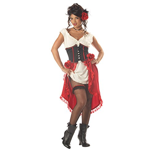 California Costumes Women's Cantina Gal Costume, Ivory/Red/Black,Medium