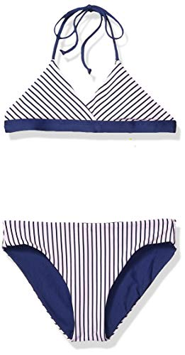 (Splendid Big Girls' Reversible Top & Retro Bikini Bottom Swimsuit Set, Wildflower Pink, 12)