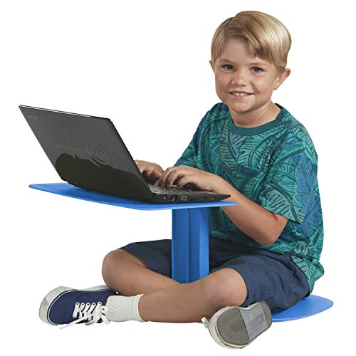 ECR4Kids The Surf - Portable Lap Desk/Laptop Stand/Writing Table, Blue (10-Pack)