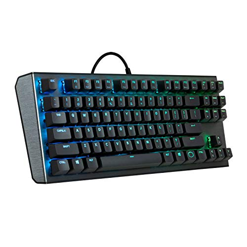 and Aluminum Top Plate RGB backlighting On-the-fly CONTROLS Cooler Master CK530 Tenkeyless Gaming Mechanical Keyboard with Blue Switches