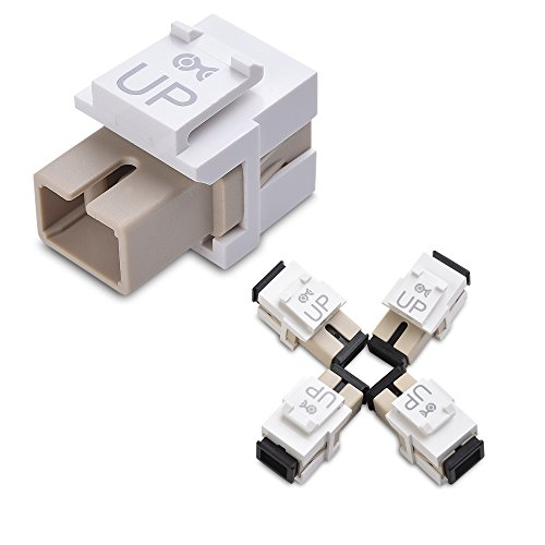 Cable Matters (4-Pack) SC to SC Simplex Fiber Keystone Jack in - Sc In Outlets