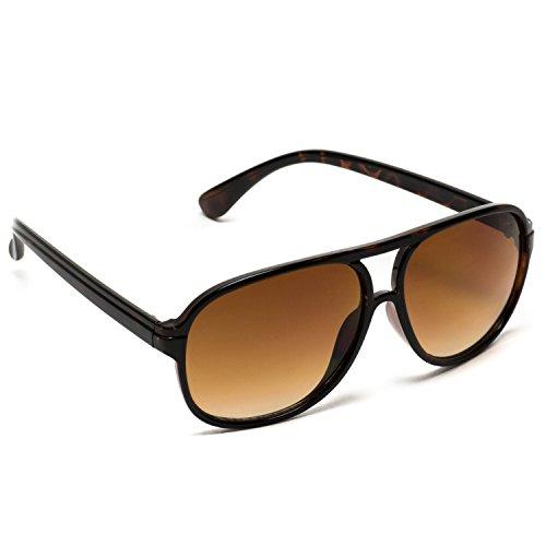 Polarized Aviator Sunglasses Retro Designed Frame Eyeglasses Retro Evidence Fashion Tortoise Frame