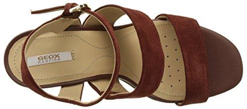 D Bout Sandales Sandalo Femme Ouvert A Audalies cigarc6007 Marron High Geox BdwfqB