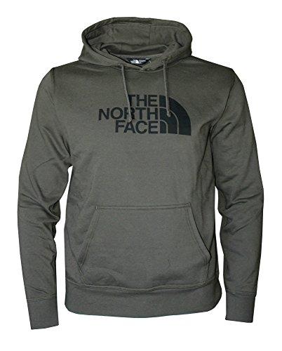 - The North Face Men's Half Dome Hoodie Burnt Olive Green Heather/Black (Medium)