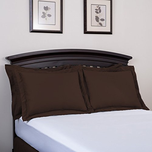 Shop Bedding Harmony Lane Classic Tailored Pillow Sham - Queen, Brown Sham (Available in 16 colors)
