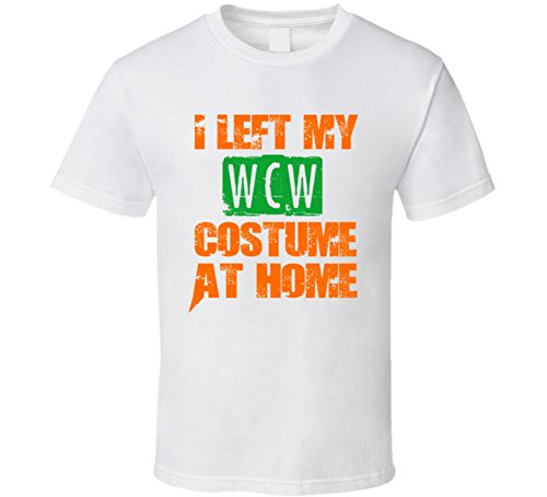 Left WCW Halloween Costume At Home Occupation T Shirt S White