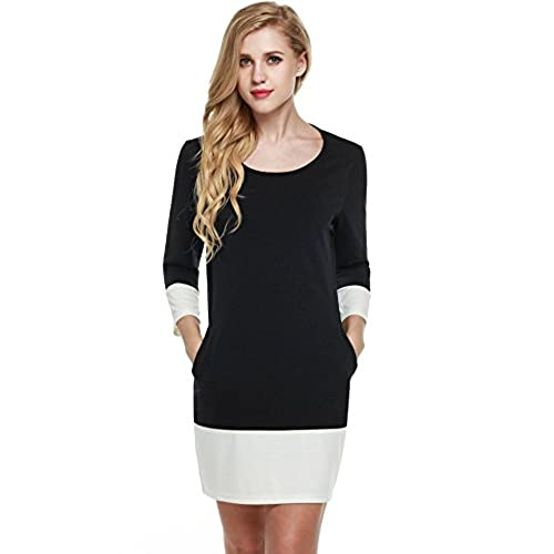 Black And White Plus Size Dress Amazon