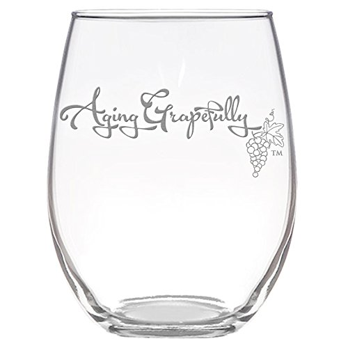 Beautifully Etched Novelty Wine Glass