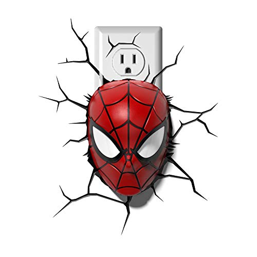 - Dream Master 110V Marvel Spiderman Mask 3D Deco Night Light-1 Pack
