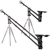 Carbon Fiber Jib Arm Camera Crane with 360 Degree Pan Ball Head, KINGJOY VM-301C 83/210cm Jib Crane Counter Weight, 1/4 and 3/8-inch Quick Release Plate, Max.Load up to 4kg /8.81lbs
