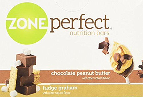 ZonePerfect Nutrition Bars, Fudge Graham/Chocolate Peanut Butter Combo. 1.76 OZ, 24 Bars (Pack of 4)