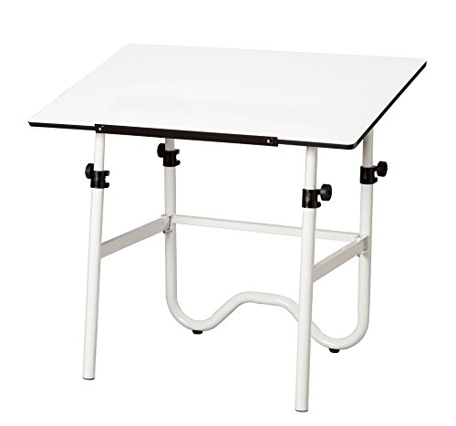 Alvin ONX40-4 Onyx White Base with White 28 inches x 42 inches Top by Alvin