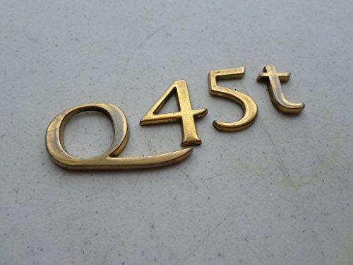 99-01 Infiniti Q45t Rear Trunk Gold Emblem Logo Individual Nameplate Decal Script (Infiniti Emblem Gold compare prices)