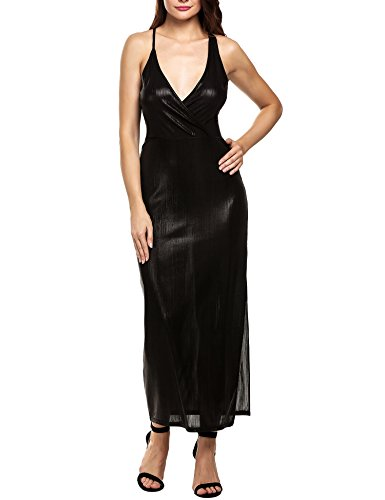cache black satin dress - 8