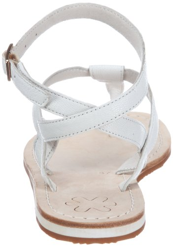Flip Flop Women's lea sling 2 Open Sandals White - Weiss (White 100) OL9kx