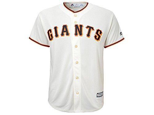 Majestic Athletic Giants Home Replica Blank Back Youth Jersey (Medium)