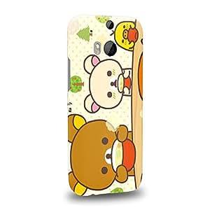 Case88 Premium Designs Rilakkuma Korilakuma Kiiroitori Kaoru Collection 1357 Carcasa/Funda dura para el HTC One M8