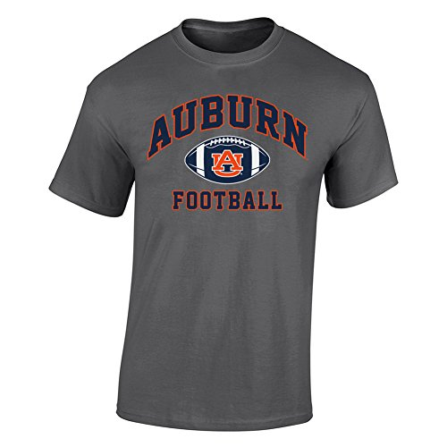 Elite Fan Shop Auburn Tigers Tshirt Heather Football Gray - XXL - Heather Gray