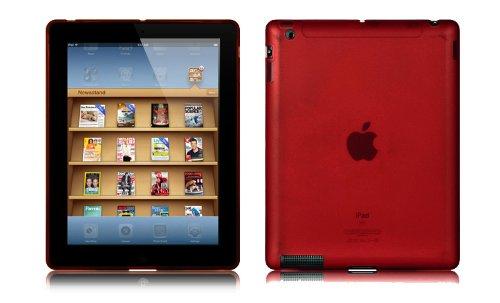 (Importer520 Red Flexible TPU Checker Soft Gel Skin Case Cover For Apple iPad 2 iPad 3 / iPad with Retina display / iPad 4)